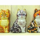 ネコ缶・ティンカンボックス・猫型カン  ( 3個セット)