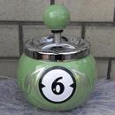 ビリヤード球型回転式アシュトレイ ライトグリーン