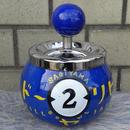 ビリヤード球型回転式アシュトレイ ブルー