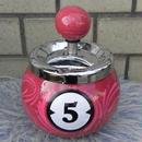 ビリヤード球型回転式アシュトレイ ピンク