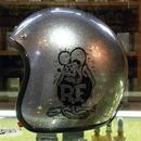 ラットフィンク メタルフレークヘルメット シルバー