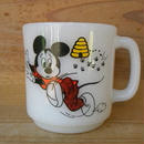 ミルクガラス LIBBEY GLASS MUG MICKY MOUSE