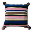 アフガニスタンの手織り布 オリジナル柄マルチカラークッションカバー BL
