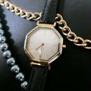 YSLイヴサンローラン レザーベルト腕時計