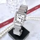 Cartier カルティエ タンク フランセーズ SM 25P 高級天然ダイヤモンド クォーツ レディース 腕時計