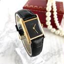 Cartier カルティエ タンク レザーベルト ゴールド 腕時計
