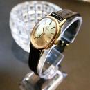 OMEGAオメガ デビル ラウンド K18GP クロコレザーベルト腕時計