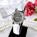 Tiffany ティファニー アトラス  ベルト2色付 ブラック文字盤 デイト レディース 腕時計