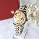 ROLEX ロレックス 10Pダイヤモンド K18YGベゼル デイトジャスト 自動巻 レディース 腕時計
