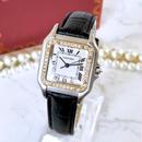 Cartier カルティエ OH済 パンテール MM ベルト2色付 ダイヤモンド37P 腕時計