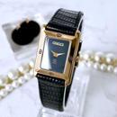 GUCCI グッチ ブラック文字盤 ベルト2色付 腕時計