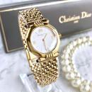 Christian Dior ディオール カットガラス クォーツ レディース  腕時計