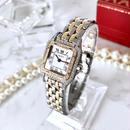 Cartier カルティエ パンテール  SM コンビ 天然 ダイヤモンド95P  ダイヤ二重 レディース 腕時計