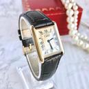 Cartier カルティエ タンク レザーベルト 2色付き 腕時計