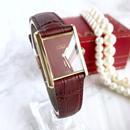 Cartier カルティエ ワイン文字盤 手巻き レディース 腕時計