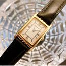 YSLイヴサンローラン スクエアフェイス レザーベルト腕時計