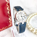 Cartierカルティエ オパラン Dバックル付 ベルト2色 ヴァンドーム 希少 シルバー 腕時計