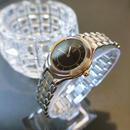YSLイヴサンローラン ブラック文字盤 コンビブレス 腕時計
