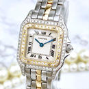 Cartier カルティエ パンテール  SM コンビ ダイヤモンド 95P レディース 腕時計