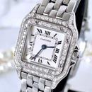 Cartier カルティエ パンテール SM ダイヤモンド 95P シルバー レディース 腕時計