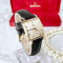 OMEGA オメガ K18YGGP スクエア ベルト2色付き スモールセコンド 手巻き  レディース 腕時計