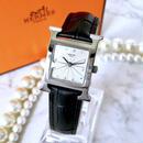 HERMES エルメス Hウォッチ ベルト2色付 シルバー  腕時計