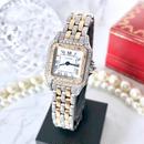 Cartier カルティエ パンテール SM コンビ 2ロウ 高級天然ダイヤモンド 95P クォーツ  レディース 腕時計