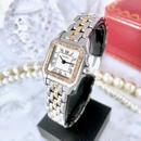Cartier カルティエ パンテール SM コンビ 1ロウ 高級天然ダイヤモンド 33P クォーツ レディース 腕時計