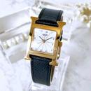 HERMES エルメス Hウォッチ ベルト2色付 ゴールド  腕時計