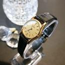 OMEGAオメガ デビル ラウンドブラックレザー 腕時計