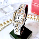 Cartier カルティエ パンテール SM 95P 高級天然ダイヤモンド コンビ クォーツ レディース 腕時計