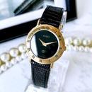 GUCCI グッチ  OH済 ベルト2色付 ブラック文字盤 ゴールド  腕時計