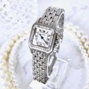 Cartier カルティエ パンテール シルバー SM 高級天然ダイヤモンド 33P 1重ベゼル クォーツ レディース 腕時計