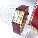 Cartier カルティエ マスト タンク ピンクワインベルト 腕時計