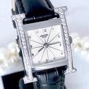 HERMES エルメス Hウォッチ ベルト2色付  ダイイヤモンド 46P 腕時計