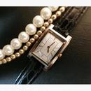 YSLイヴサンローラン スクエアフェイス レザーベルト 腕時計