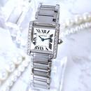 Cartier カルティエ  OH済 タンクフランセーズ ダイヤモンド 腕時計