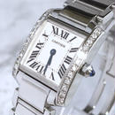 Cartier カルティエ タンク フランセーズ 天然ダイヤモンド レディース 腕時計
