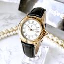 YSL イヴ・サンローラン ベルト2色付き ゴールド クォーツ レディース 腕時計