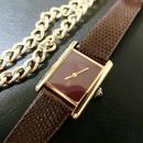 9/3値下 Cartier カルティエ タンク ワイン 腕時計