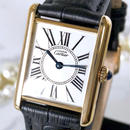 Cartier カルティエ タンク オパラン ベルト2色付 K18YGGP クォーツ レディース 腕時計
