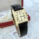 Cartier カルティエ タンク 天然ダイヤモンド 34P クォーツ レディース 腕時計