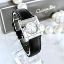 Christian Dior クリスチャンディオール  パールホワイト ベルト2色付き スクエア クォーツ レディース 腕時計
