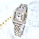 Cartier カルティエ パンテール SM K18コンビ 高級天然ダイヤモンド 33P クォーツ レディース 腕時計