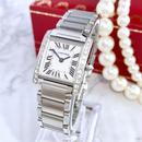 Cartier カルティエ タンク フランセーズ 天然ダイヤモンド 25P レディース 腕時計