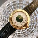 YSLイヴサンローラン ラウンドフェイス レザーベルト腕時計