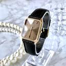 OMEGA オメガ デビル K18YGGP スクエア クォーツ レディース 腕時計