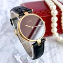 Cartier カルティエ ヴァンドーム ワイン文字盤 クォーツ レディース 腕時計