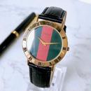 GUCCI OH済 グッチ シェリーライン文字盤 ベルト2色付 ユニセックス 腕時計