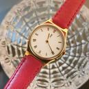 YSLイヴサンローラン レッドベルト 腕時計